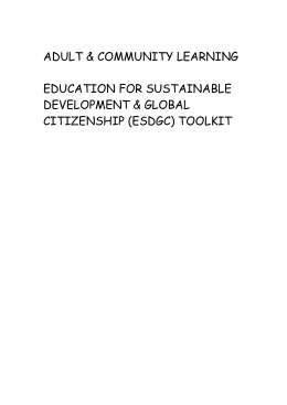 EDUCATION FOR SUSTAINABLE DEVELOPMENT & GLOBAL