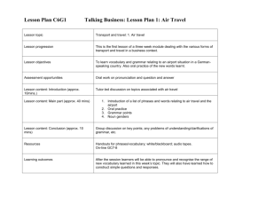 Lesson Plan C6G1: Air Travel