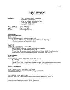 Curriculum Vitae - Emory University Department of Pediatrics