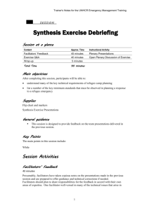 TN 8.2. Synthesis Exercise Debriefing