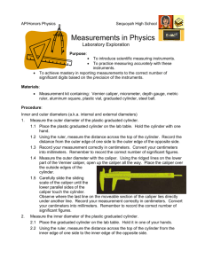 Measurements in Physics - Mrs. Geddes` AP Physics Labs