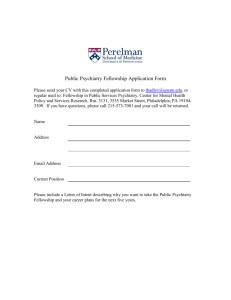 Public Psychiatry Fellowship Application Form