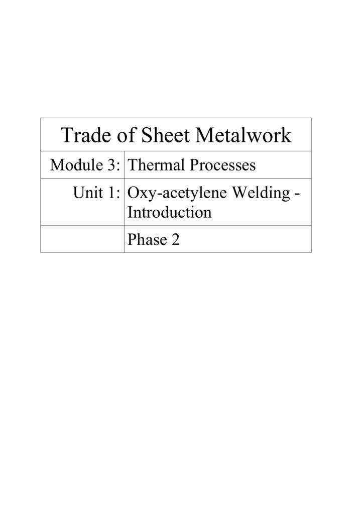 Oxy Acetylene Welding Equipment