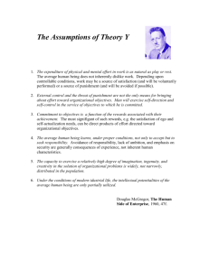 The Assumptions of Theory Y