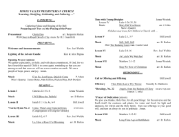 December 15, 2013 Bulletin - Pewee Valley Presbyterian Church