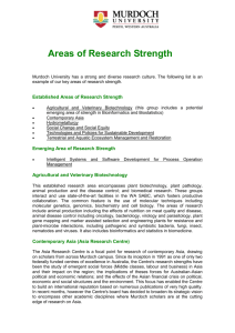 Areas of Research Strength - Murdoch University Senate
