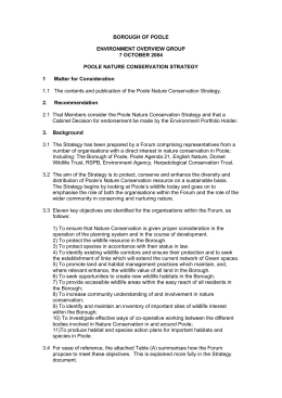 (Attachment: 7)POOLE NATURE CONSERVATION STRATEGY