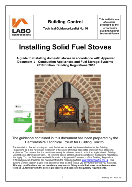 Installing Solid Fuel Stoves
