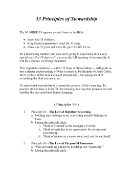 33 Principles of Stewardship