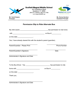 Permission Slip to Ride Alternate Bus