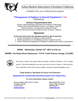 Topics & Speakers - Indian Medical Association of Southern California