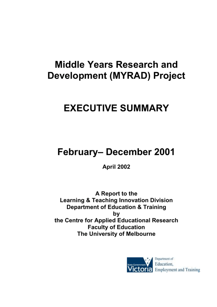 executive summary for project report on training and development