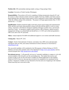 Position title: MS assistantship in juvenile fish ecology