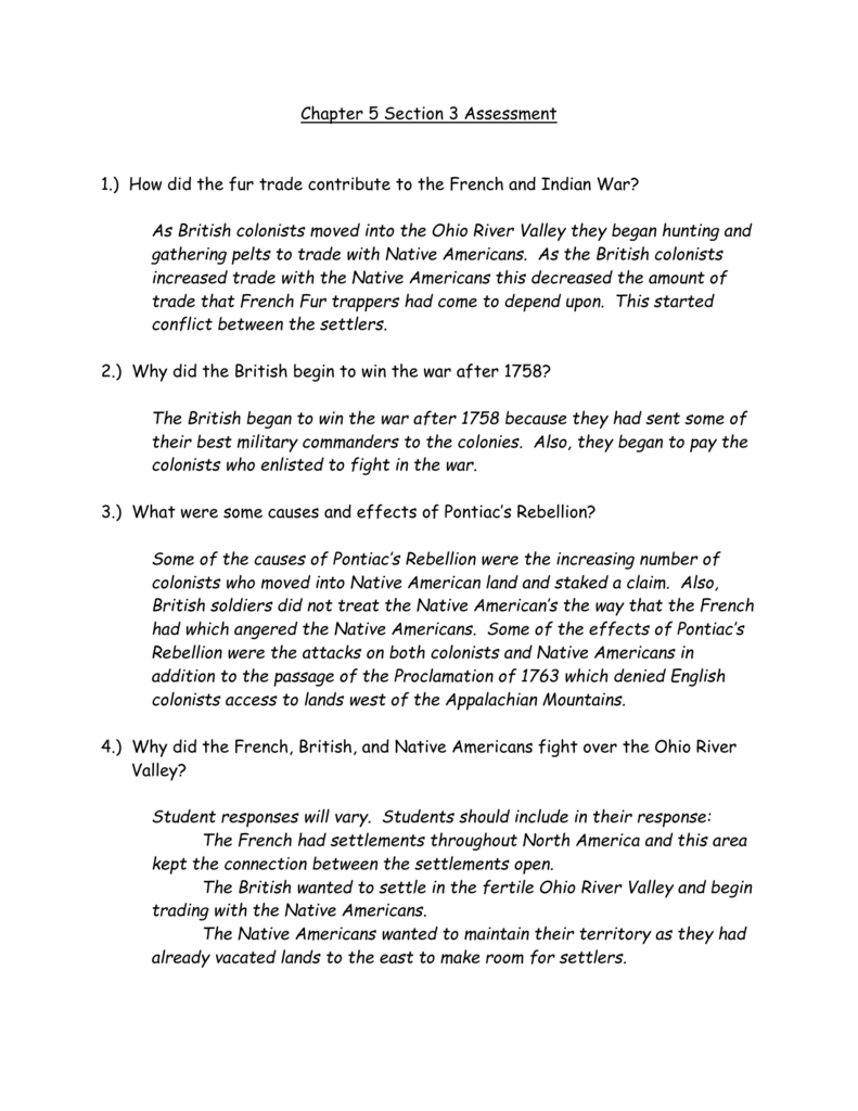 Chapter 5 Section 3 Assessment
