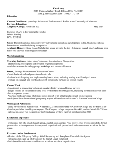 Curriculum Vitae - University of Montana