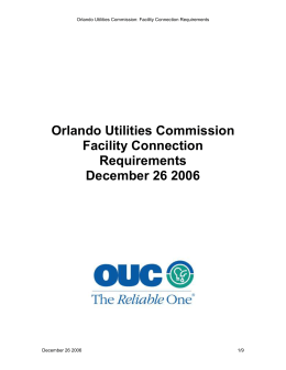 OUC Facility Connection Requirements