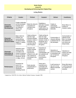 RUBRIC* FOR FORMAL & INFORMAL