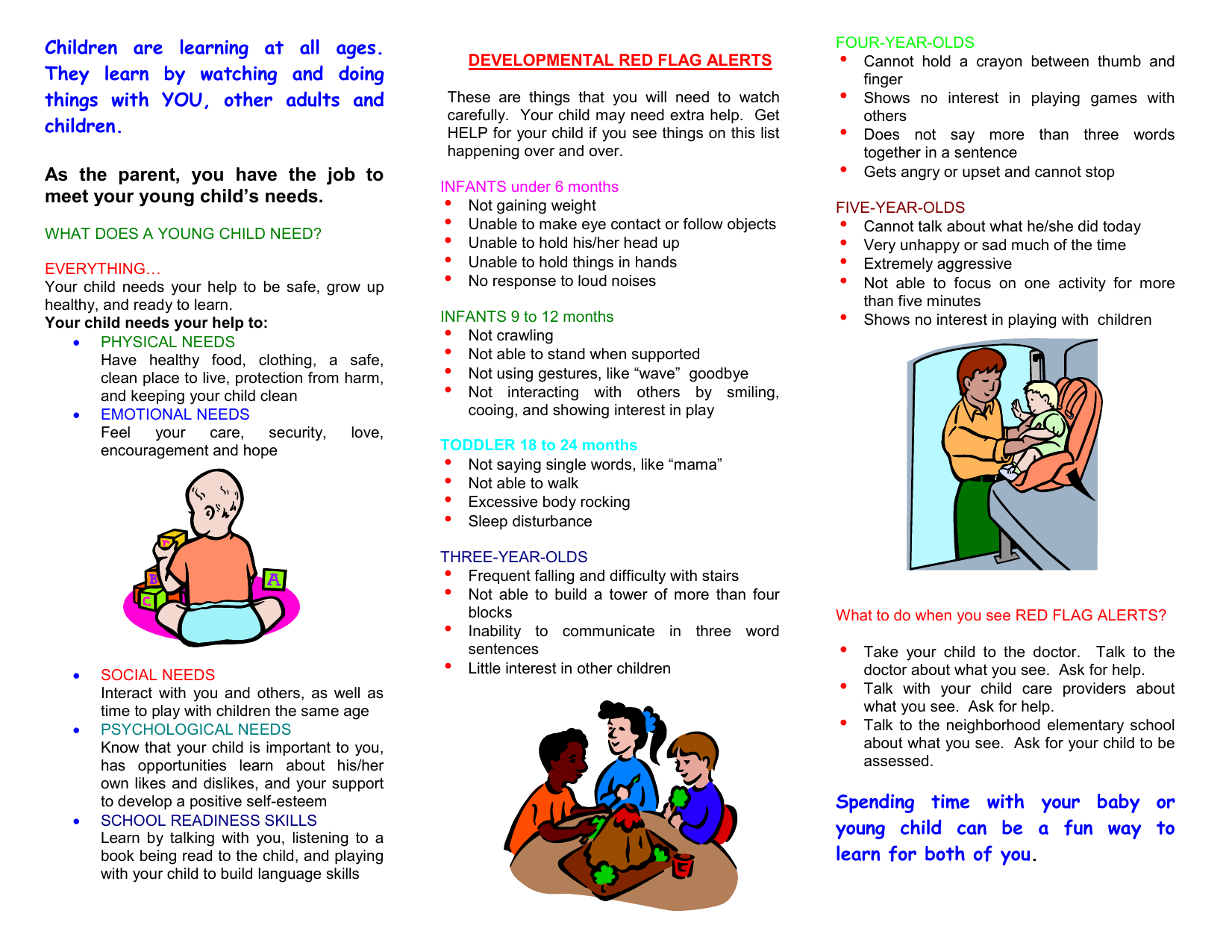What Does a Young Child Need? - Los Angeles County Department