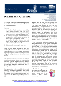 21 Dreams and Potential - City of Greater Geelong