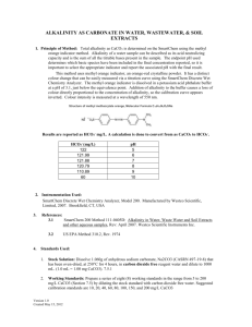 Alkalinity as Carbonate Method