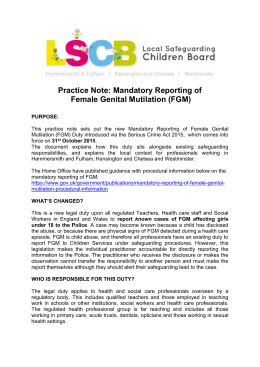Practice Note FGM mandatory reporting October 2015