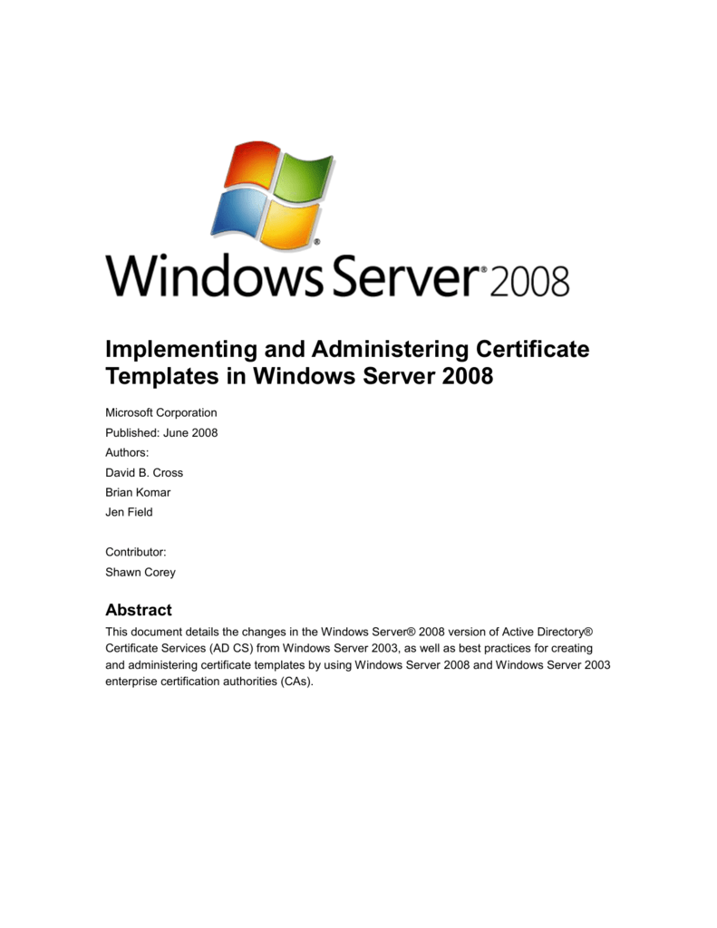 Implementing And Administering Certificate Templates