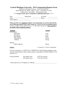 DNA Sequencing Request Form - DNA Sequencing and Analysis