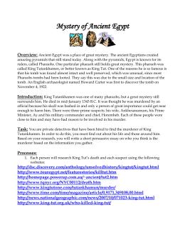 5 paragraph essay on king tut