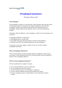 Oesophageal manometry