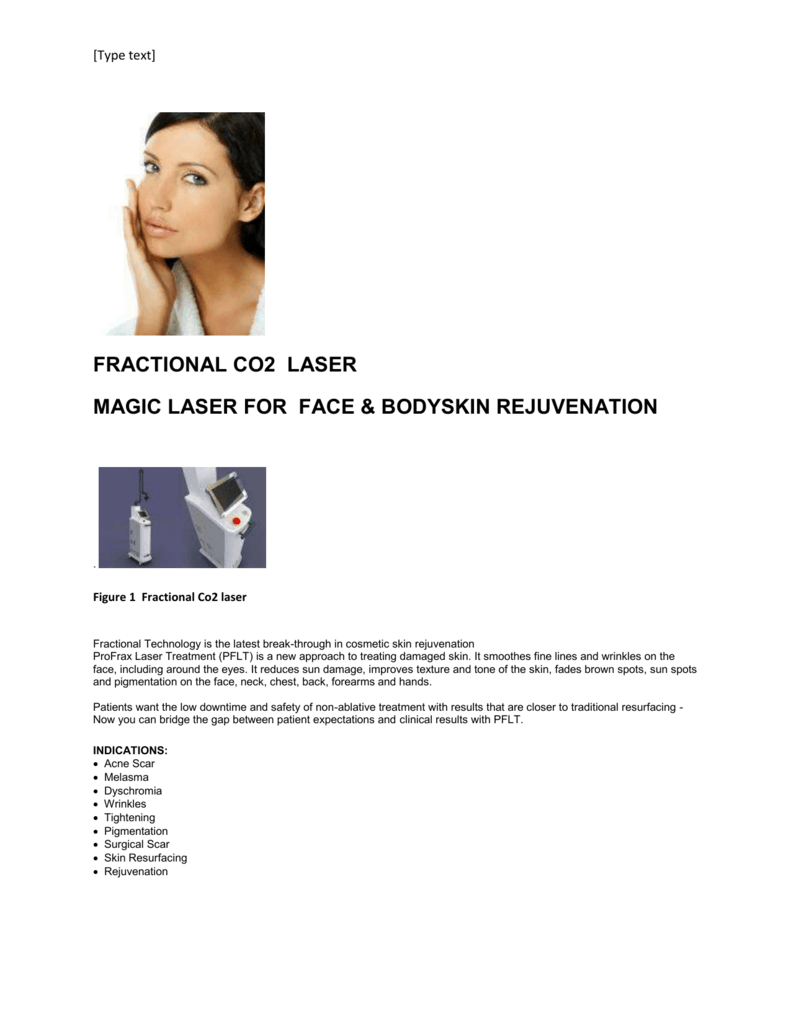 Fractional Co2 laser - Cosmetic Surgery Centre