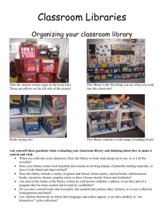 Classroom Libraries - Inter