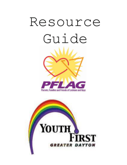 GENERAL RESOURCES FOR GLBT YOUTH - PFLAG