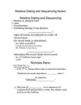 Relative Dating and Sequencing Notes