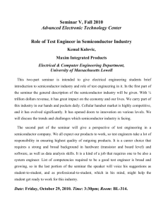 Role of Test Engineer in Semiconductor Industry