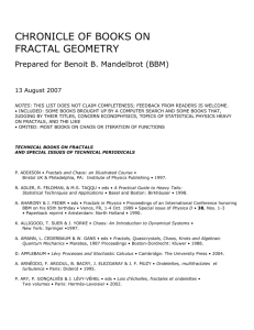Books on fractals  - Department of Mathematics