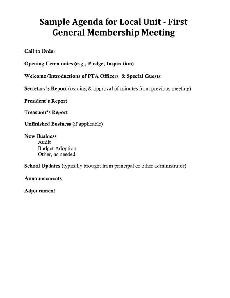 Sample Script for Treasurer`s Report for First general