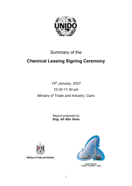 3 Discussion and Comments on the Chemical Leasing Presentation