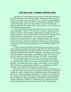Ego Analysis, A Formal Introduction