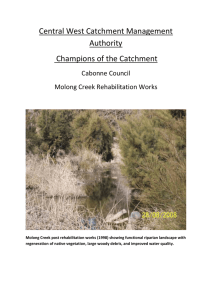 Central West Catchment Management Authority Champions of the