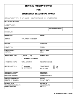 Generator Specs Request Form