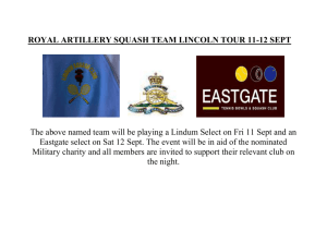 ROYAL ARTILLERY SQUASH TEAM LINCOLN TOUR 11