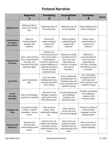 Fictional Narrative Rubric