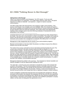 Talking Down Is Not Enough - Surcon International, Inc.