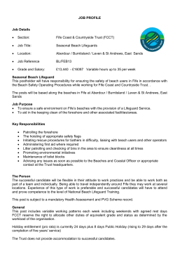 JOB PROFILE - Fife Coast & Countryside Trust