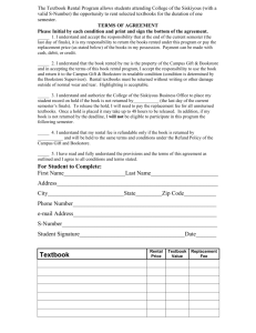 Student Textbook Rental Contract