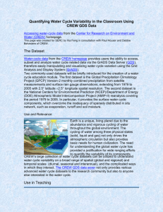 Quantifying water cycle variability in the classroom