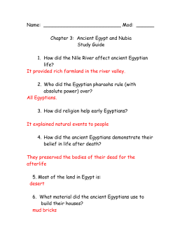Egypt Study Guide