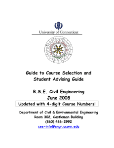 Course Requirements - School of Engineering