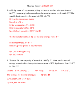 Worksheets Specific Heat Worksheet With Answers specific heat worksheet 2 calculations involving thermal energy answer key