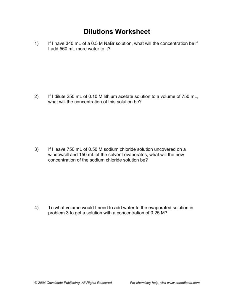 Worksheets Dilution Problems Worksheet worksheet dilution problems thedanks for everyone 007439334 1 a8293ebb387dd8ef568c70284c4eec3c png